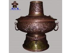 铜之魂纯紫铜手工加厚木炭铜火锅仿古紫铜涮肉火锅炉厂家直销包邮
