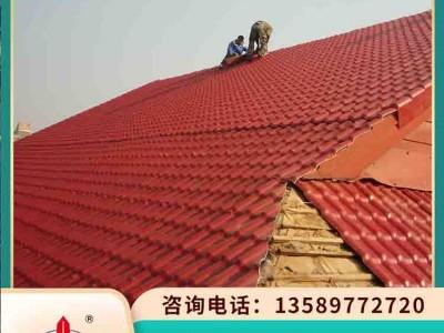 仿古塑料瓦 山东乳山树脂瓦 仿古建筑屋面瓦无需防水层