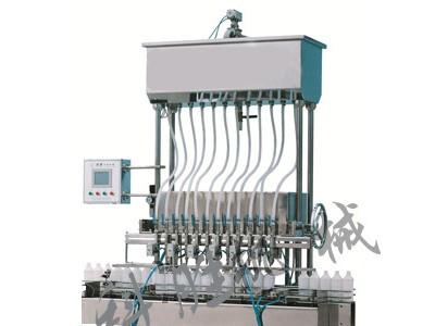 衡水科胜12头自流式液体灌装机|乐亭虾油灌装机|河北灌装机