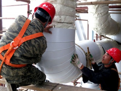 设备硅酸铝彩钢板管道保温工程防腐保温施工公司
